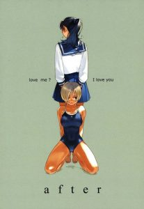 【エロ漫画】百合関係にあった憧れのJK女先輩。水泳の練習が終わり、更衣室に久しぶりに呼び出された。【無料 エロ同人】