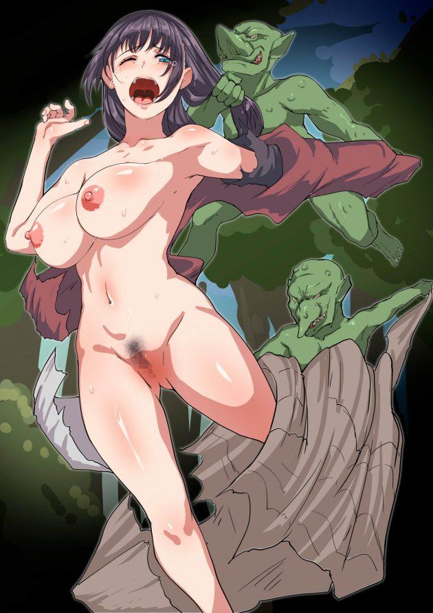 【エロ同人誌】一人で森に入った村娘がゴブリンに襲われて捕まって、孕み袋にされたり悪戯でアナルを犯されたり…!【無料 エロ漫画】 (26)