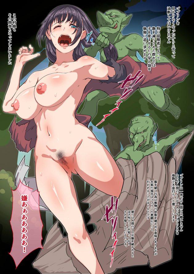 【エロ同人誌】一人で森に入った村娘がゴブリンに襲われて捕まって、孕み袋にされたり悪戯でアナルを犯されたり…!【無料 エロ漫画】 (4)