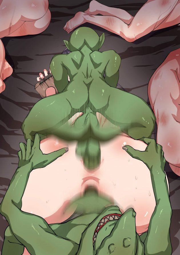 【エロ同人誌】一人で森に入った村娘がゴブリンに襲われて捕まって、孕み袋にされたり悪戯でアナルを犯されたり…!【無料 エロ漫画】 (42)